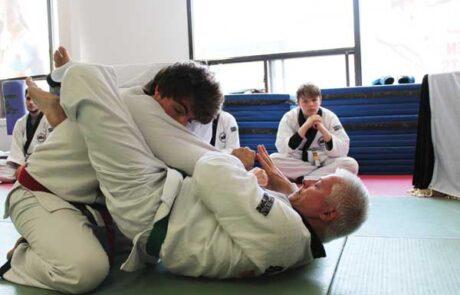 Sparring at Evoke martial arts