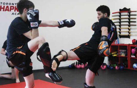 Level 2 sparring at Evoke muay thai